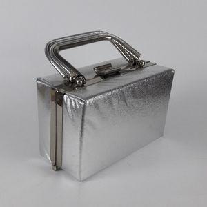 Silver Box Handbag Purse